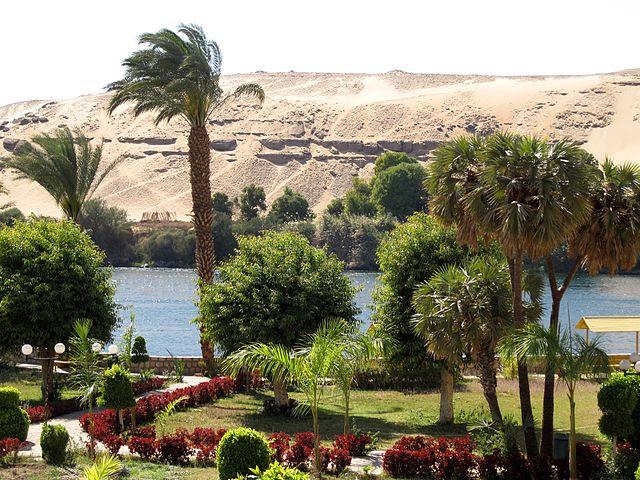 aswan botanical garden egypt africa