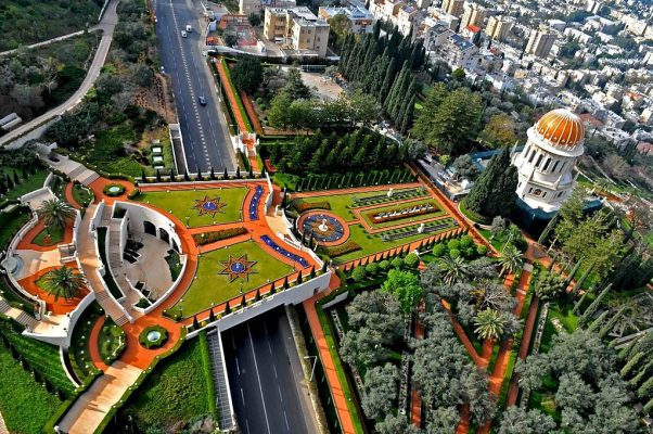 bahai shrine israel middle east botanical gardens